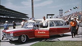 Still image of Conkle Funeral Home ambulance at Indianapolis Motor Speedway.